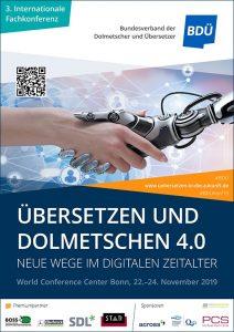 Plakat BDÜ-Konferenz Übersetzen und Dolmetschen 4.0